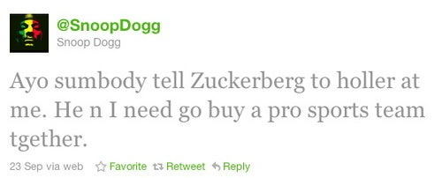 Snoop and Facebook CEO: Business Partners?