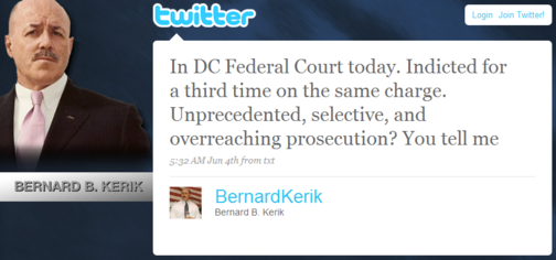 Hey There! Bernard Kerik Is Using Twitter!