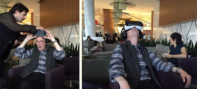 William Gibson tries the Gear VR