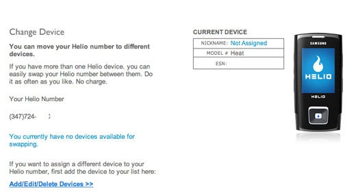 Helio Handset Number Sharing Step-by-Step