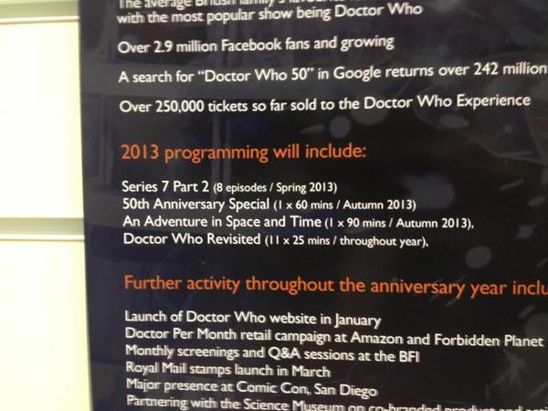 No New Doctor Who Episodes Between This Spring and the Anniversary Special!