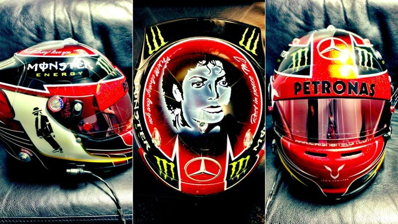 Lewis Hamilton's Michael Jackson-Themed F1 Helmet Is Surprisingly Great