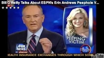Pervy Flesh-Peddler Bill O'Reilly Plays Erin Andrews Peephole Video On-Air