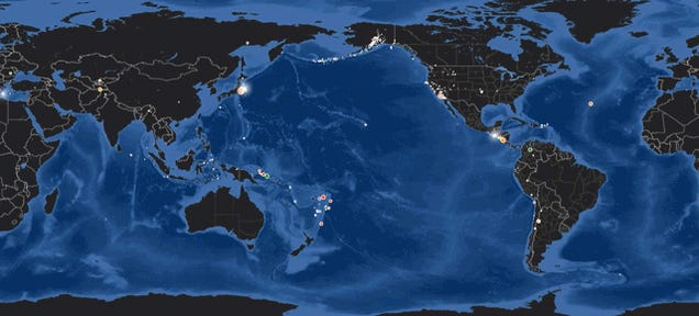 A Timelapse of All the Earthquakes From This Record-Breaking April