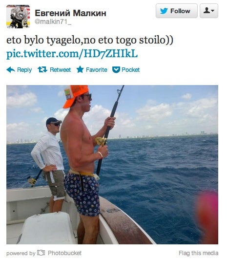 Evgeni Malkin Tweet Fish Catch Best
