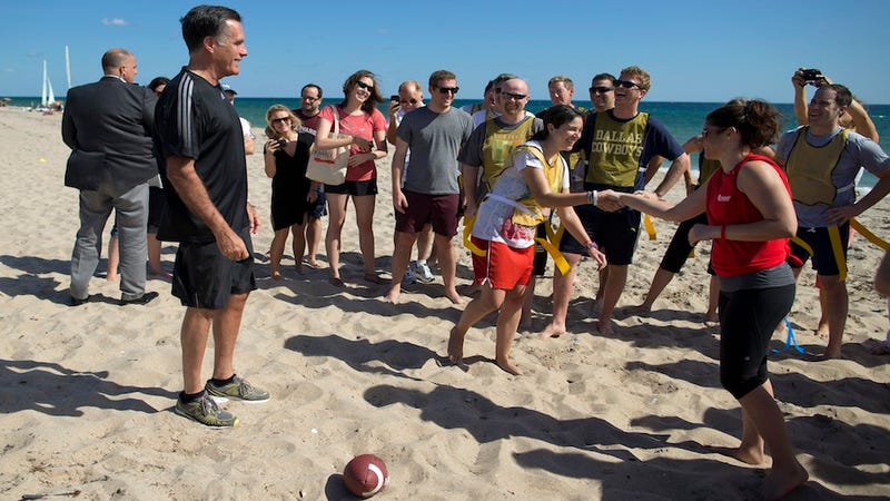Mitt Romney's Staff Played the Media Covering Them in a Friendly Game of Flag Football