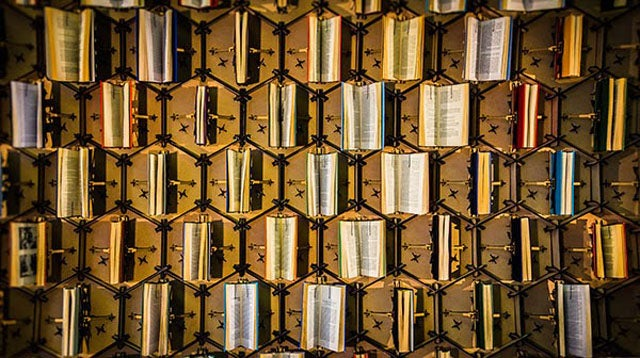 This Animatronic Wall Of Books Moves In Time With Library Visitors