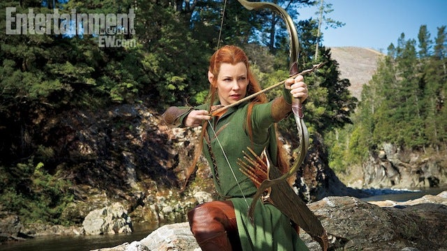 First look at Evangeline Lilly as the elf Tauriel in The Hobbit 2