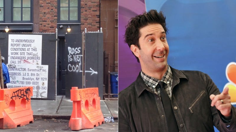 "David Schwimmer's Neighbors Label Him ""Not Cool"" in Hurtful Graffiti"