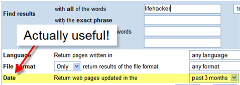 Get fresh results from Google searches