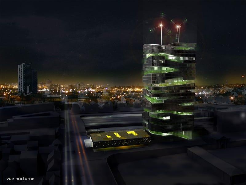Vertical Skyscraper Farms Dominate Skyline of 2050