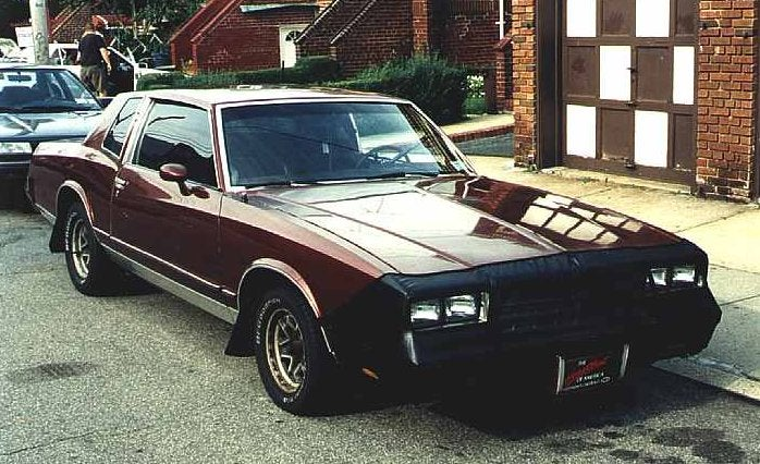 Saw a brown 80s Monte Carlo in brown with black rally steelies...