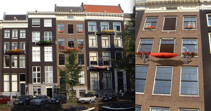 Building-Mounted Hammock is a Scary Space Saver