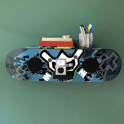 X-Games Branded iPod Skateboard Speakers Are Extreme to the Max Shelving