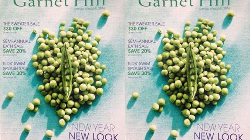 This Season's Garnet Hill Catalog Cover Model Is A Vagina