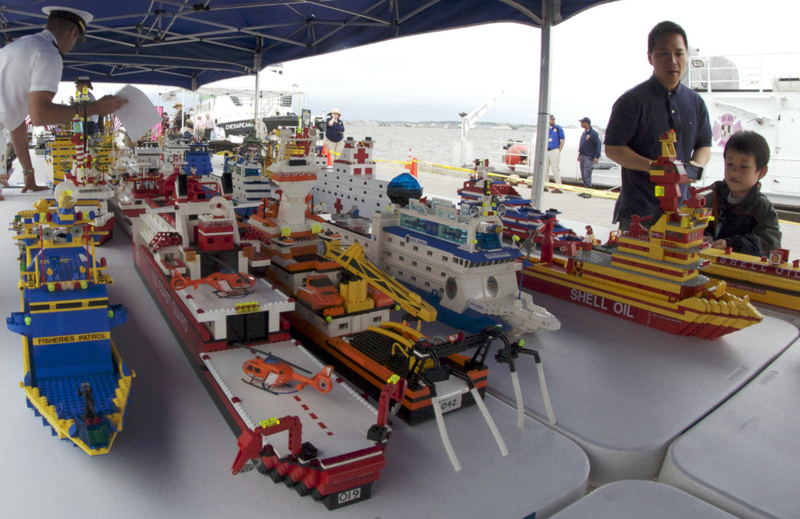 World's Largest Lego Fleet Sails Into Philadelphia Port