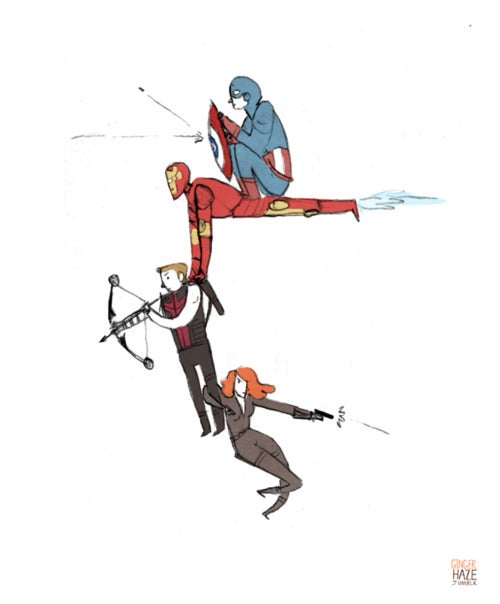 Adorable webcomic illustrates the Avengers' difficulties with carrying Hawkeye into battle