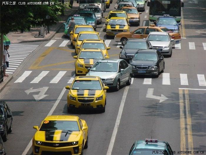 Chinese Fan-Boys Tart Up Random Cars To Show Bumblebee Love