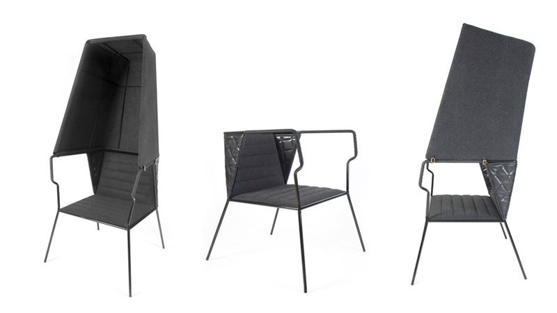 A Privacy Chair That Draws All the Attention to You