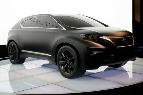 Lexus LF-Xh Concept Hits Paris Show Floor In Matte Black