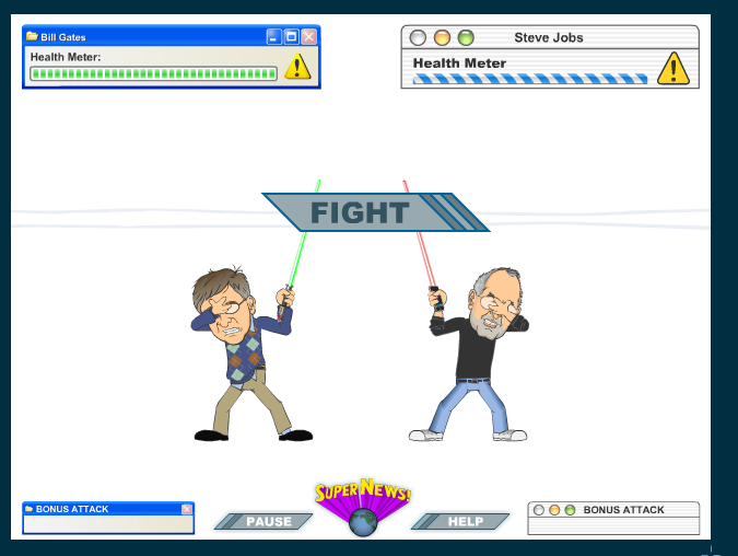 Bill Gates vs. Steve Jobs: The Lightsaber Duel