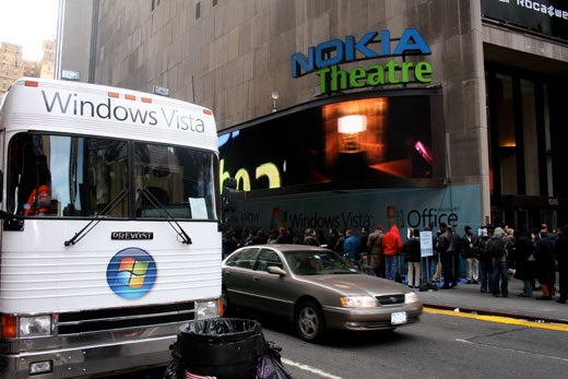 Freezing Our Eyeballs Off At The Windows Vista Launch