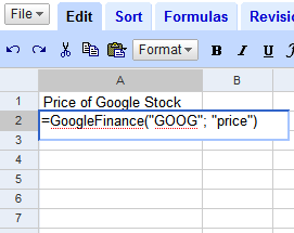 Add live Google data to Google Spreadsheets