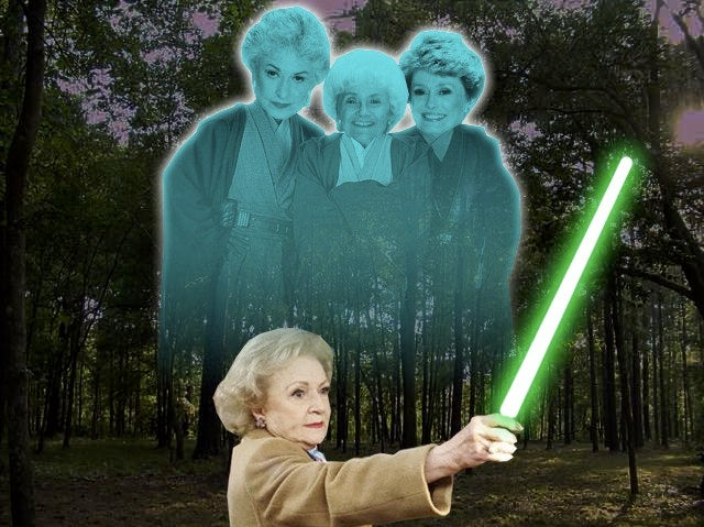 The Force is strong with Betty White
