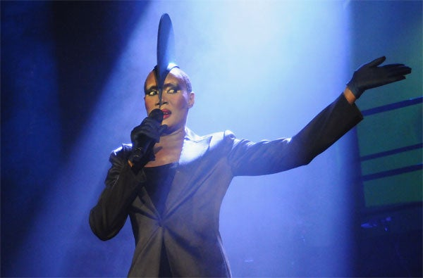 "Grace Jones: She Came, She ""Saw"", She ____________"