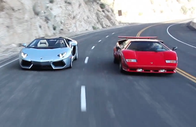 Video: Lamborghini Countach vs. Aventador Roadster