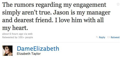 "Elizabeth Taylor Is Not Engaged; Scott Baio Pays Taxes For ""Lazy"" People"