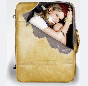 Decorate Your Luggage With Bound And Gagged Women
