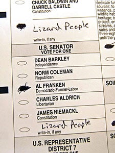 Minnesotans Find Voting For Al Franken or Norm Coleman Very Difficult