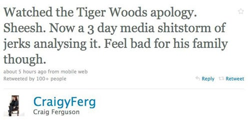 Celebs Tweet About Tiger Woods' Press Conference