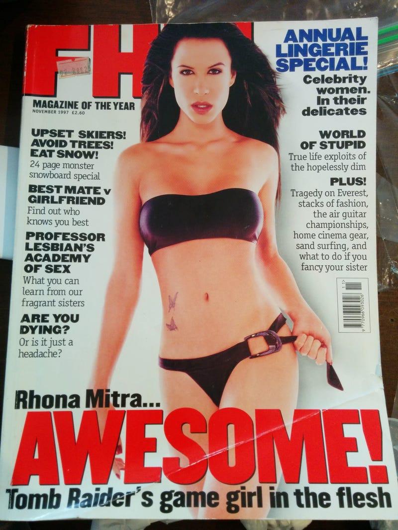 Lara Croft And Jason Statham Were Both Models In A 1997 Men's Mag
