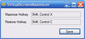 VirtualScreenMaximizer Maximizes Windows Across Multiple Monitors
