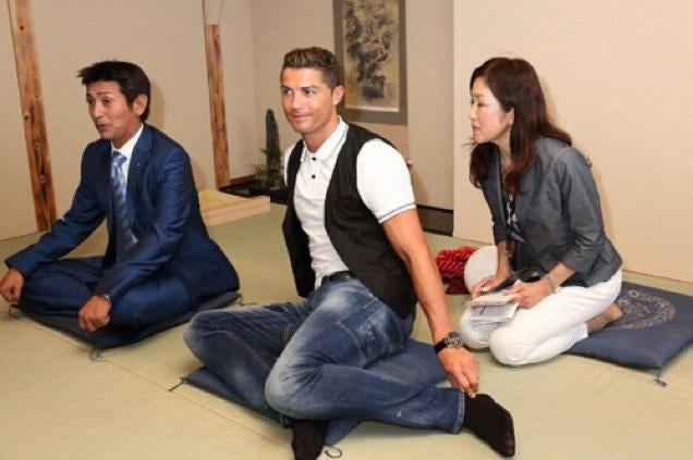 Ronaldo Kinda Sucks at Japanese Sitting
