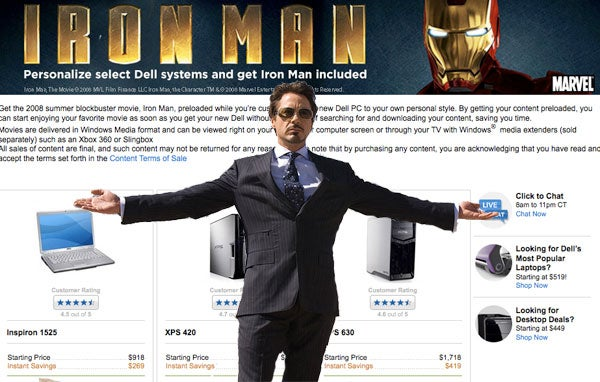 Dell Preloading Select Computers with Iron Man