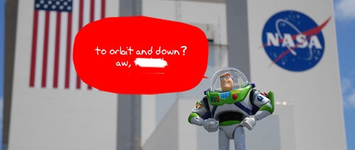 Buzz Lightyear Goes to Infinity and... the International Space Station?