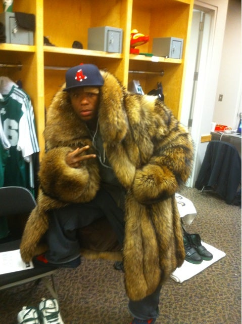 A Mink Stole Is Full-Length On Nate Robinson