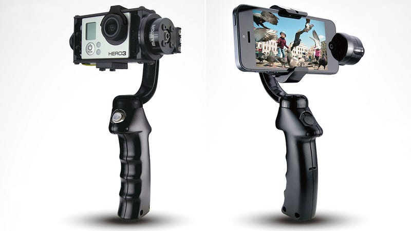 Stabilized Action Cam and Smartphone Mounts Smooth Out Your Home Vids