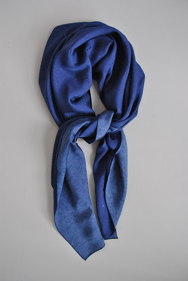 These Silk Scarves Are Patterned With Real Raindrops