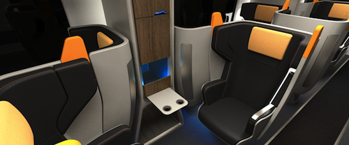 Concept Train Seats Swivel When (And Where) You Want Them To