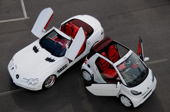 BRABUS SLR McLaren Roadster, Matching Smart ULTIMATE 112: Because Rich People Love Accessories