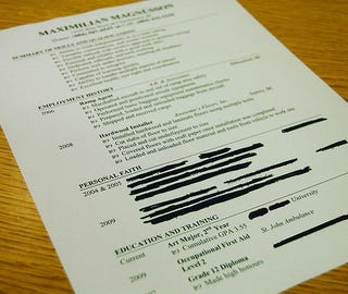 what resume items can kill my chances at getting a new