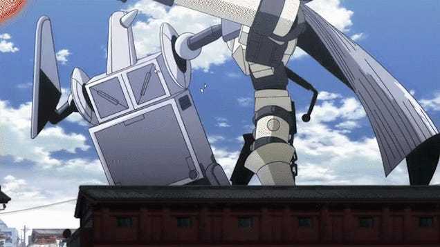 The Enemy Robots in This Anime Have Giant Penis Guns