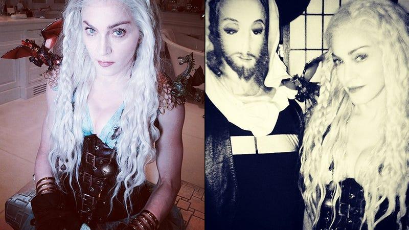 Madonna Dressed Up as the Khaleesi Last Night