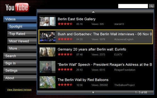 YouTube XL Supersizes YouTube for Your TV
