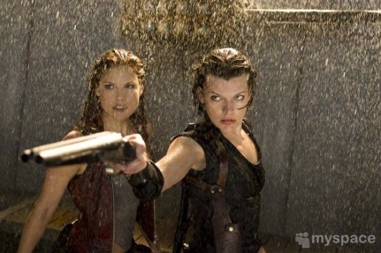 Milla Jovovich All Set (And Totally Wet) In First Resident Evil Afterlife Images