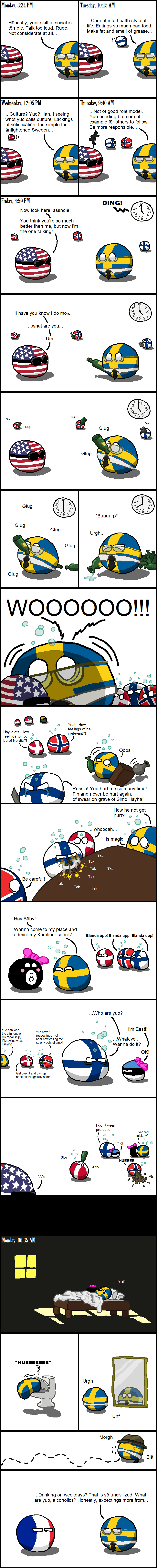 Daily Polandball: The Nordic Model